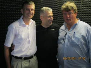Andy Boyns, Aziz Acar, and Kurt Kelly at NTV